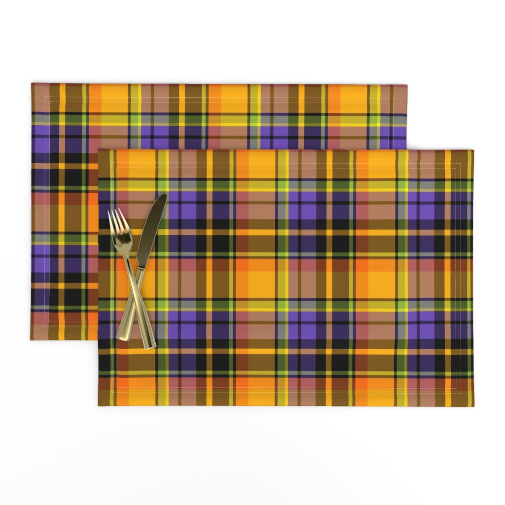 Lamona Cloth Placemats featuring halloween plaid by ghouk