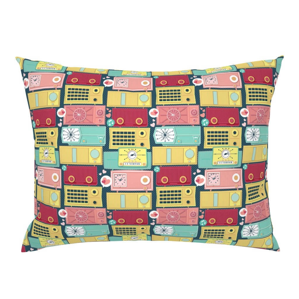 Campine Pillow Sham featuring Turn the vintage radios on // small scale by selmacardoso