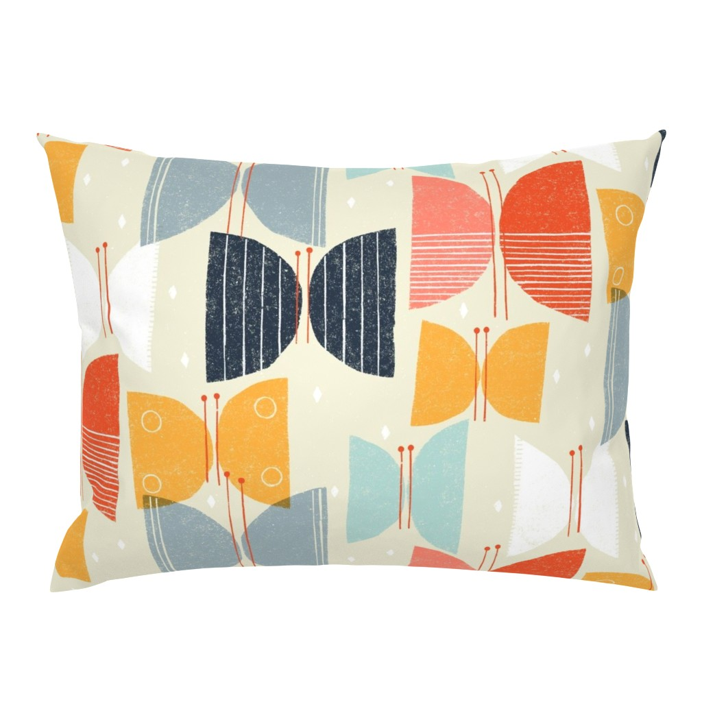 Campine Pillow Sham featuring MCM Butterflies M+M Tan by Friztin by friztin