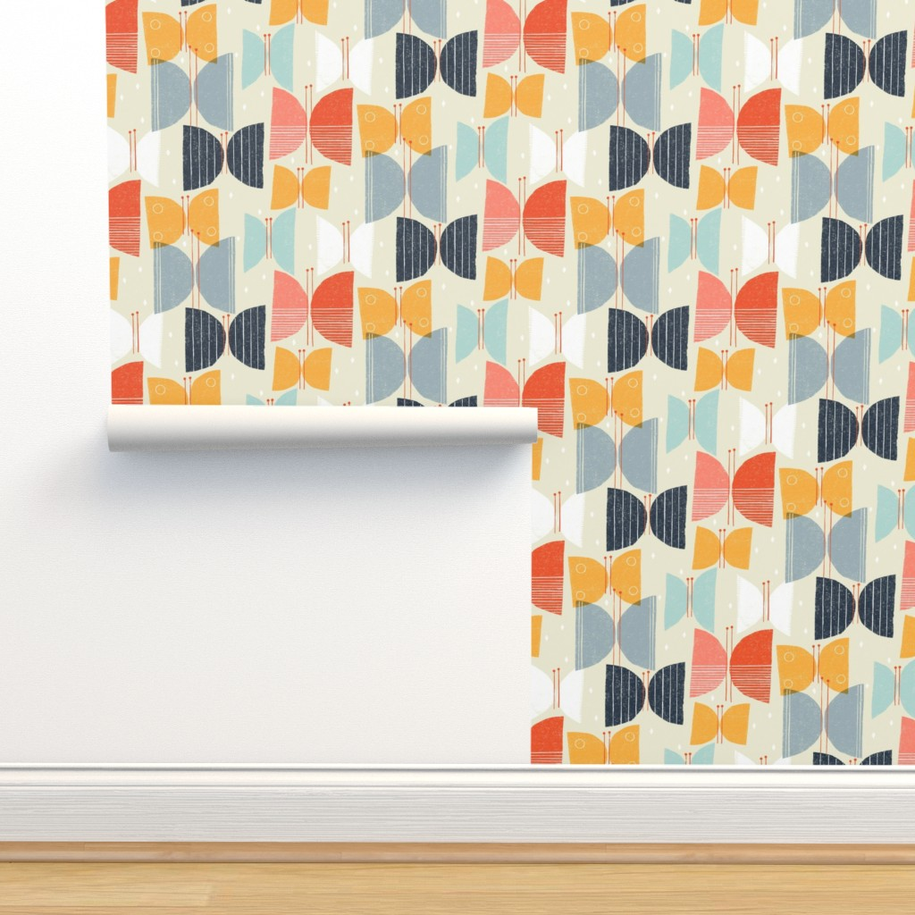 Isobar Durable Wallpaper featuring MCM Butterflies M+M Tan by Friztin by friztin