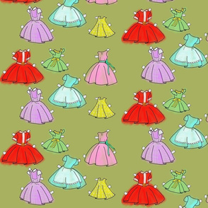 1950s paper doll dresses