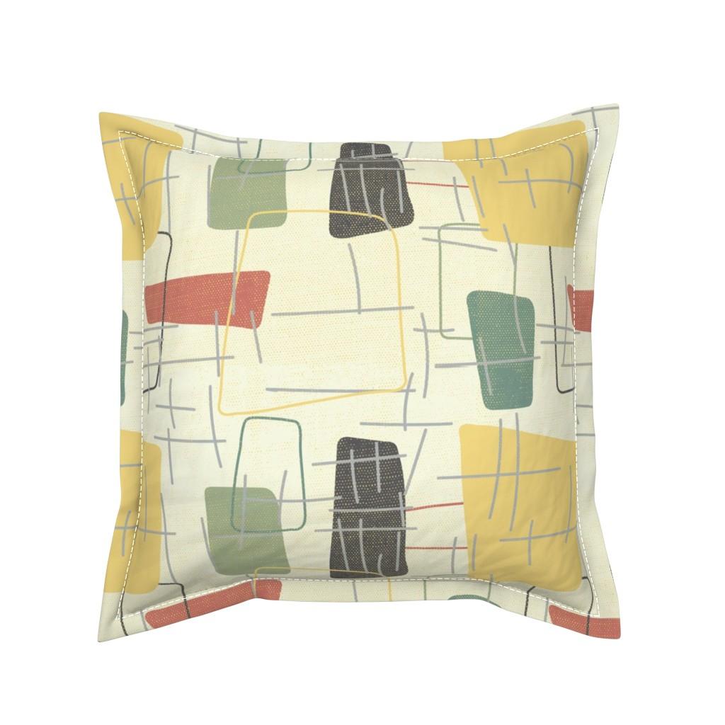Serama Throw Pillow featuring Fifties Formica by owlandchickadee