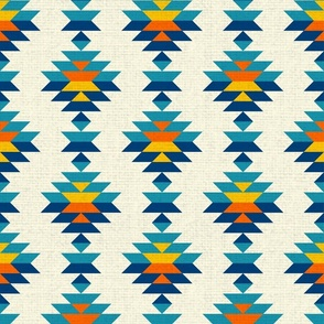 Aztec bohemian textured colorful vertical rows Wallpaper Fabric