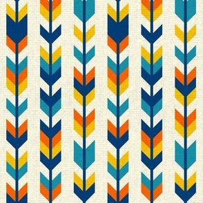 Boho colorful aztec arrows Fabric