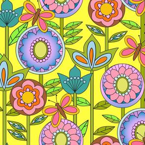 60s Mod Flowers