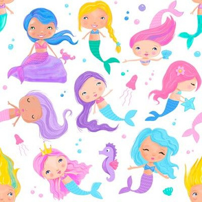 Candy Coloured Mermaids