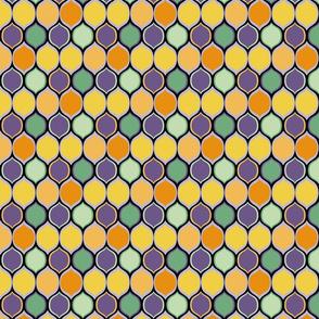 Purple, Green, Orange Halloween Coordinate, Ogee Pattern