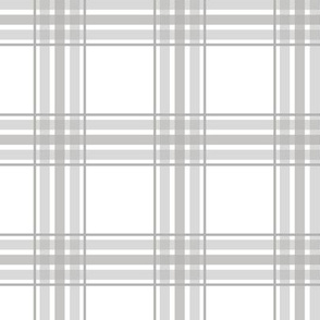farmhouse plaid in gray and white