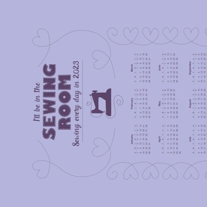 2021 Calendar - Sewing every day!