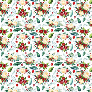 "Christmas Floral 8x6"""