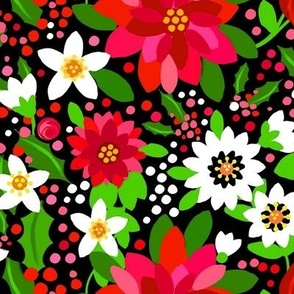 1960s Flower power / Holiday Floral