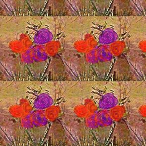Roses Purple and Orange