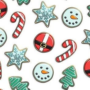 Christmas Sugar Cookies - white - holiday