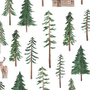 Winter Log Cabin in the Forest!