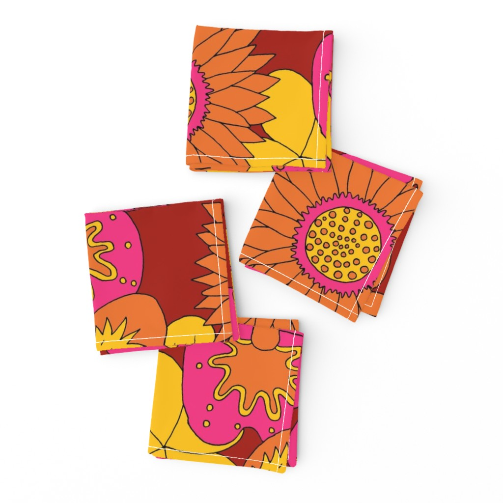 Frizzle Cocktail Napkins featuring Flowerpower summer by zandloopster