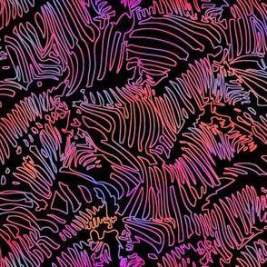 Zebra Line Drawing Hot Pink