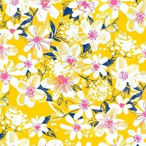 Yellow Abstract floral