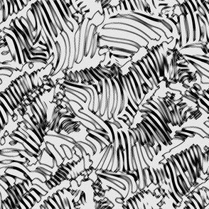 Zebra Line Drawing Gray
