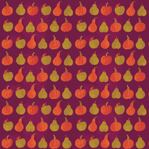 Fruit Fall with pumpkins and pears