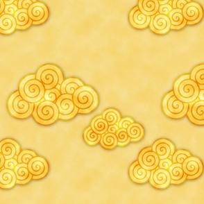 yellowwatercolorclouds