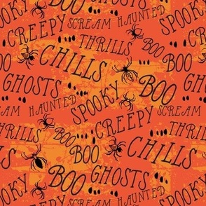 Haunted Hill Spooky Lettering : orange
