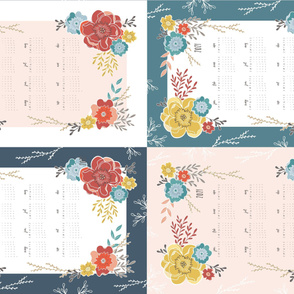 2020 Vintage Floral Tea Towel Sampler