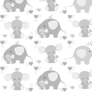 Gray Elephant Baby Nursery Neutral