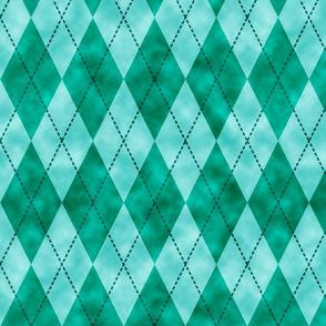 watercolorgreenargyle