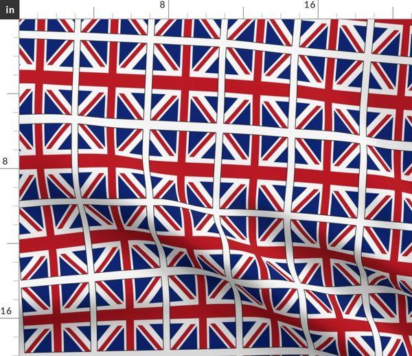 Stoff Meterware Irisch Britisch Union Jack Englisch England Schottisch Großbritannien Britische Flagge
