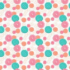 Sew Buttons - White