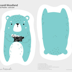 Scandi Woodland - Bear Softie Plushie Cut&Sew