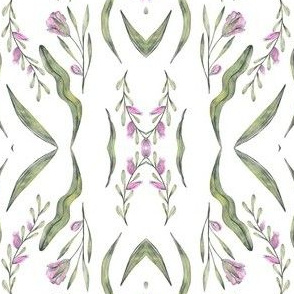 Purple Watercolor Wildflowers Pattern