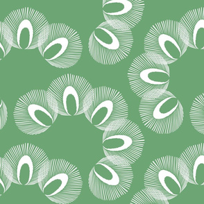Feathered fans - custom in green