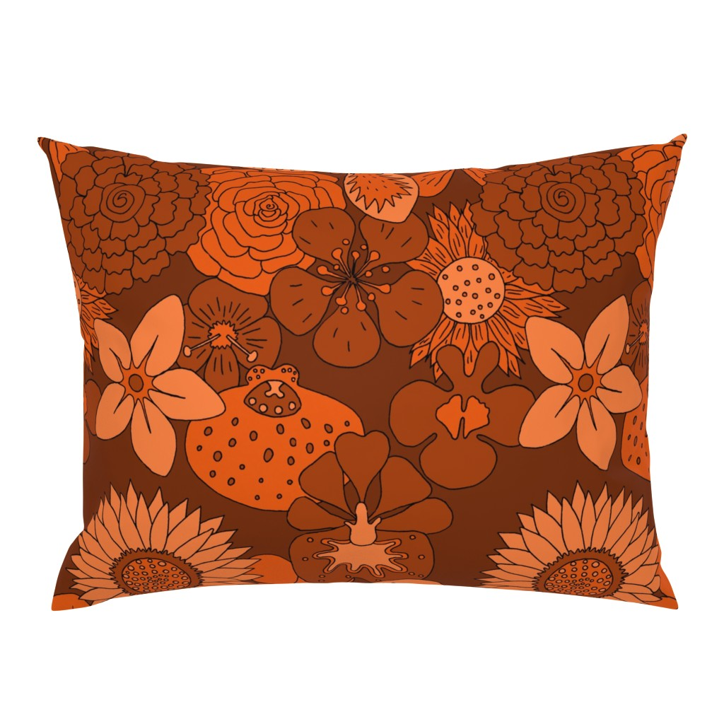 Campine Pillow Sham featuring Flowerpower halloween by zandloopster