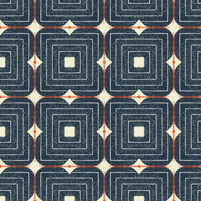 Blooming Garden M+M Navy Black by Friztin