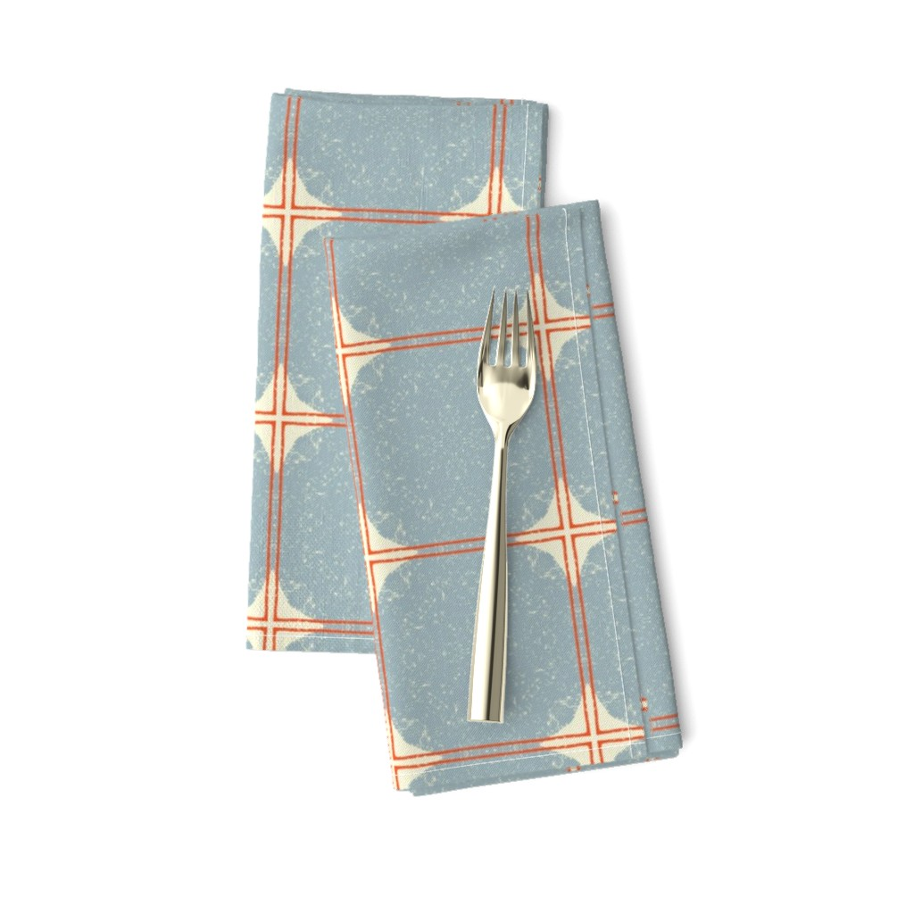Amarela Dinner Napkins featuring Dot Squares M+M Slate by Friztin by friztin