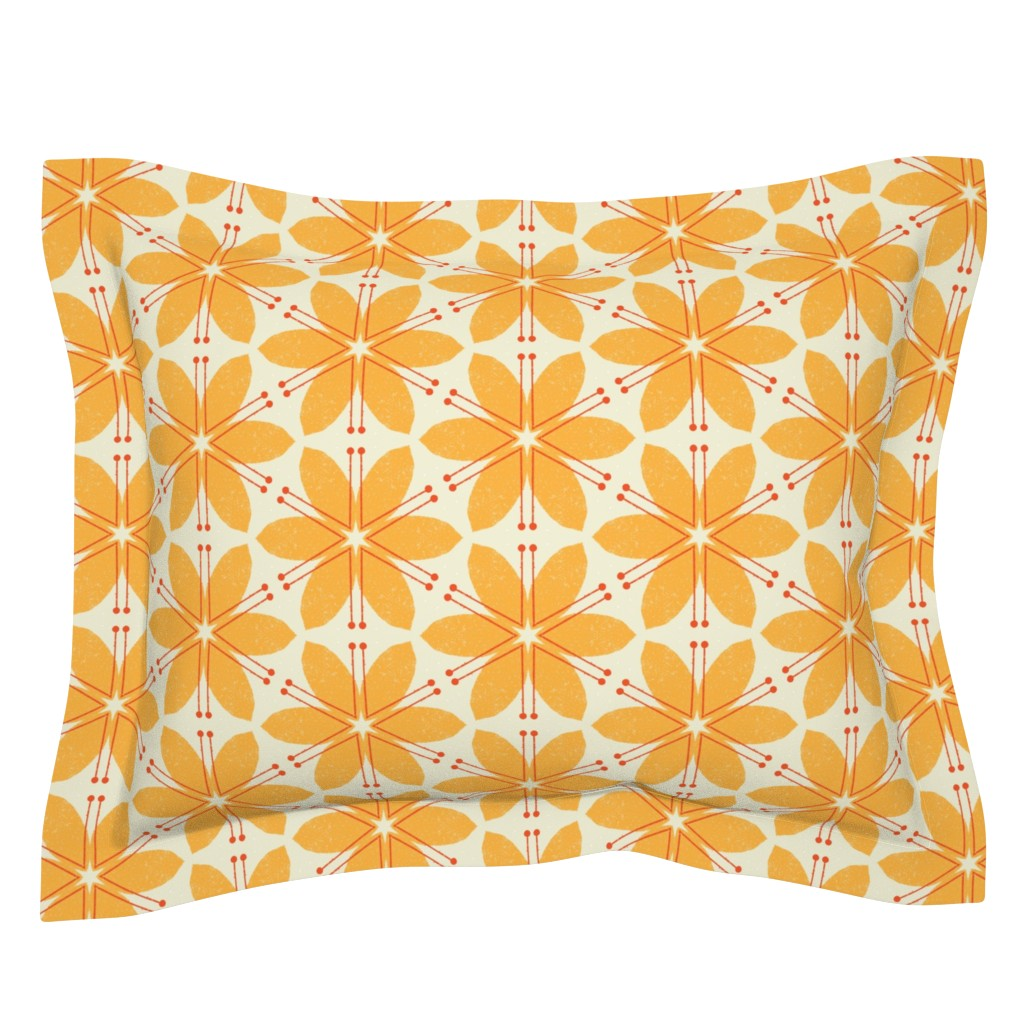 Sebright Pillow Sham featuring Lilies M+M Honey by Friztin by friztin