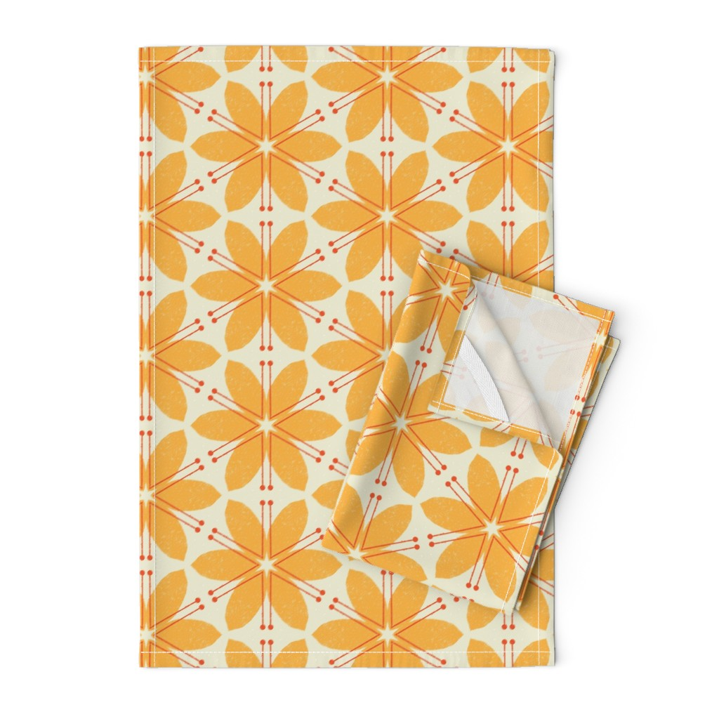 Orpington Tea Towels featuring Lilies M+M Honey by Friztin by friztin