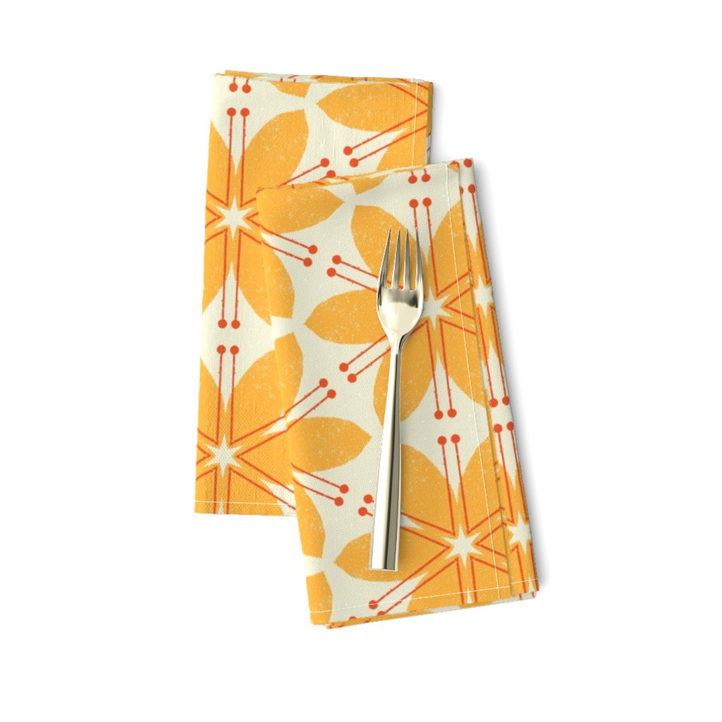 Amarela Dinner Napkins featuring Lilies M+M Honey by Friztin by friztin