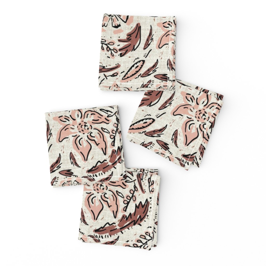 Frizzle Cocktail Napkins featuring INDIE FLORAL by holli_zollinger