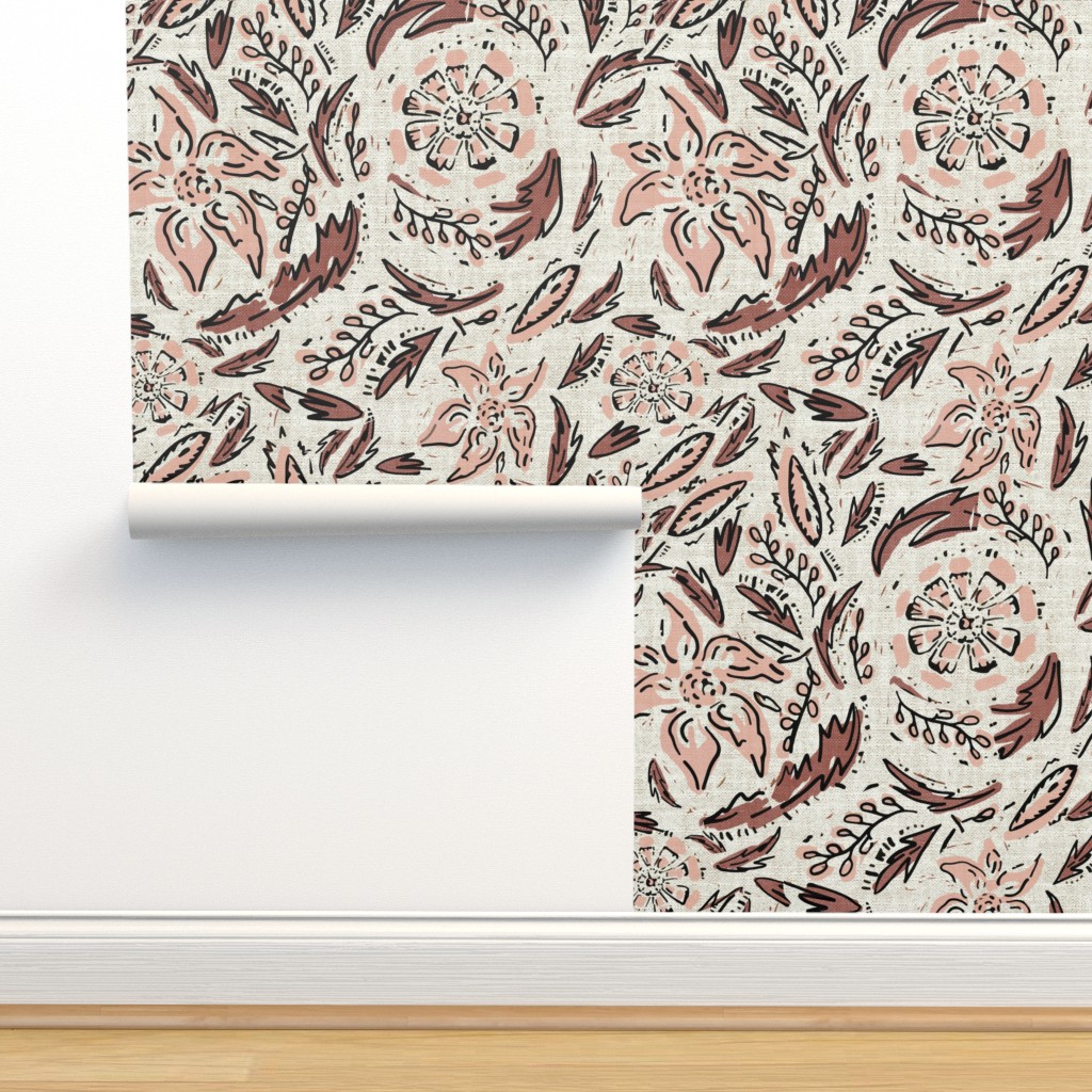 Isobar Durable Wallpaper featuring INDIE FLORAL by holli_zollinger