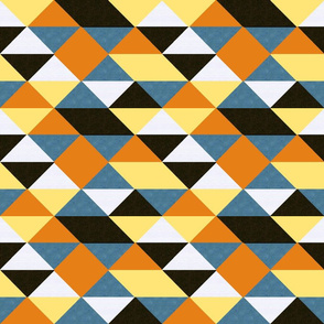triangles // blue, yellow, orange