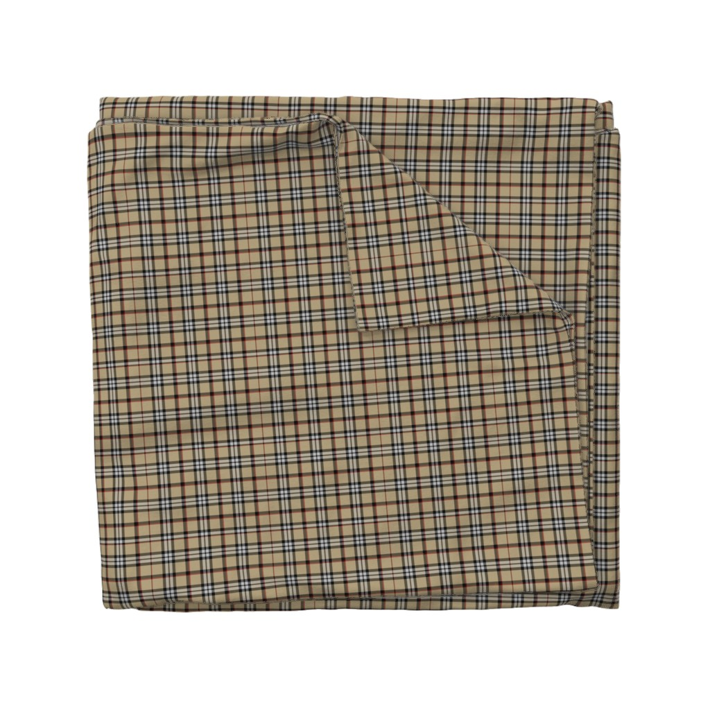 Wyandotte Duvet Cover featuring Londoner Plaid by the_artwerks