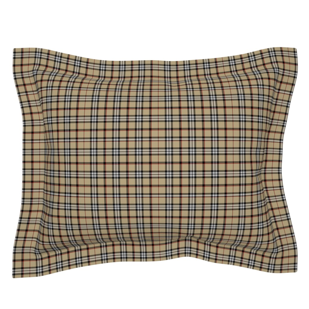 Sebright Pillow Sham featuring Londoner Plaid by theartwerks