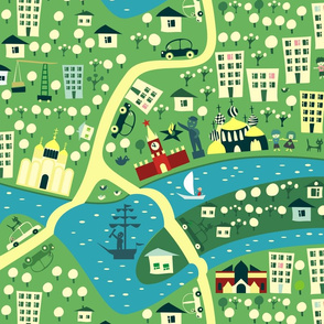 cartoon map of moscow