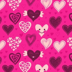 cute girly hearts