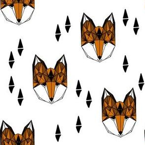 fox // geometric fox head kids baby nursery trendy kids grey baby boy gender neutral fox design for kids