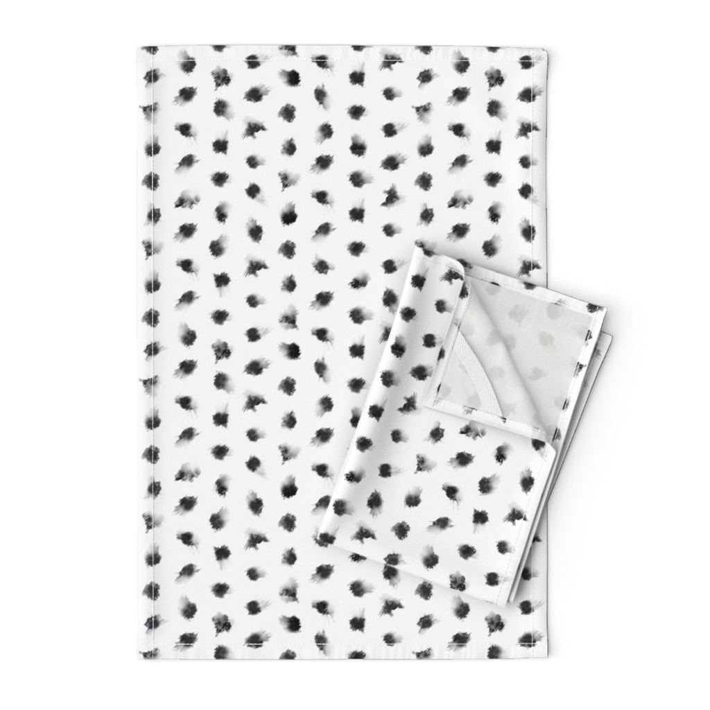 Orpington Tea Towels featuring Inkblots - Small by autumn_musick
