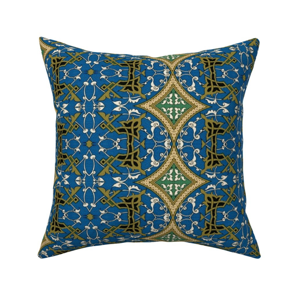 Catalan Throw Pillow featuring arabesque 182 by hypersphere