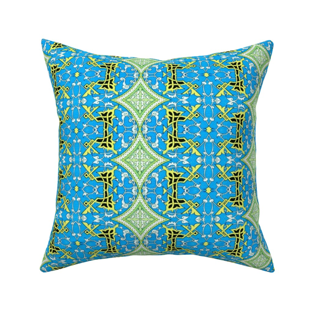 Catalan Throw Pillow featuring arabesque 184 by hypersphere